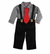 Mud Pie Boy's Holiday Set: Black 3-Piece Suit