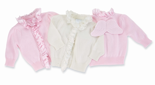 Mud Pie Baby Angel Wings Cardigan Sweater - Choose Pink or Cream PINK 3-6 month at Sears.com