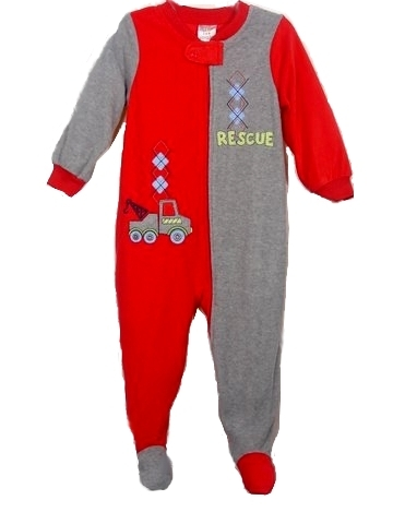 In Fashion Kids Infant and Toddler Blanket Sleeper - Red and Grey Rescue Sleeper 2T at Sears.com