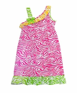 Rare Editions Zebra One Shoulder  Knit Dress Newborn to Girls 10