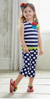 Mud Pie - Boathouse Tunic and Dot Legging Set