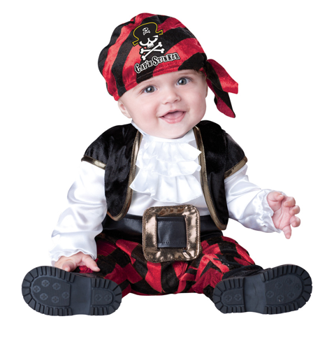 NewIncharcter Baby or Toddler Pirate Costume: Infant Captain Halloween Costume 0-6MO
