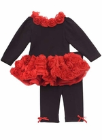 SIze 2T - 6X Rare Editions Red Rose Pant Set