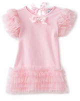 Mud Pie Valentine's Day Pretty in Pink Tiered Mesh Dress