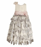 Bonnie Jean Girls Dress - Silver Petals