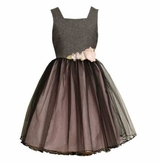 Bonnie Baby and Bonnie Jean Grey Tulle Princess Dress