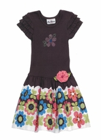 Rare Editions Floral Border Dress - Size