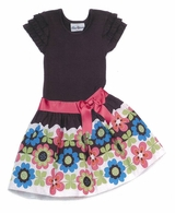 Rare Editions Girls Dresses -  Border Hem Floral   SIZE 8  FINAL SALE