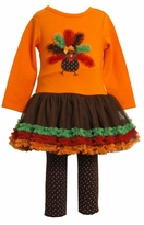 Bonnie Jean Orange Chiffon Turkey Tutu Tunic Set sold out