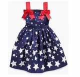 Patriotic Dress for July 4th Bonnie Jean Shooting Stars 3T