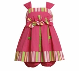 Bonnie Jean Summer ~ Fuchsia Applique Flower Sundress