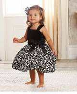 Girls Party Dress - Damask Dress