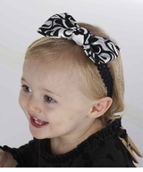 Damask Bow Stretch Headband  sold out