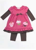 Newborn Girls Cupcake Pant Set  SOLD OUT