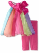 Bonnie Baby - Girls Infant Rainbow Chiffon Legging Set 18 month