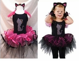 Kitty Cat Costume - Crystal Cat Pettiskirt Dress and Cat Headband