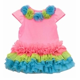 Rare Editions Dress - Neon Pink - Infant or Girls