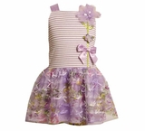 Bonnie Jean Lavender Mesh Dress