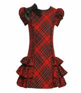 Side Ruffle Plaid Dress  Infant to Girls Size SOLD OUT