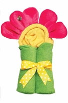 Animal Tubby Towel - HOT PINK FLOWER