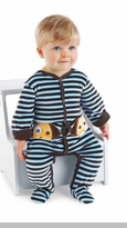 Boys Puppy Love! Velour Puppy Stripe Sleeper - SOLD OUT