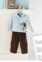 Infant or Toddler Boys Puppy Polo Pant Set - sold out