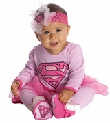 Baby Girls Pink Supergirl Tutu Costume with Headband - sold out