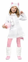Girls Cat Costume White Kitten Cat Costume