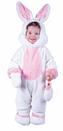 Infant or Toddler White Fluffy Bunny Rabbit Costume