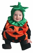 Infant Pumpkin Costume - Deluxe Satin with Fill