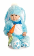 Newborn Boys Costume - Blue Bunny Costume with Carrot