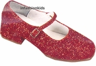 Girls Ruby Red Sparkle Shoes - Dorothy Shoes