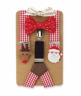 Boy's Christmas Bowtie & Suspender Set