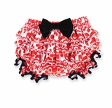 Mud Pie Baby Girl's Blommer: Red Damask Infant Girl's Christmas Bloomer