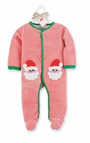 Mud Pie Baby Holiday One Piece: Red Infant Baby Christmas Santa Sleeper - Sold Out