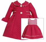 Newborn Girls Coat and Dress Set Fuchsia sold out