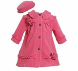 Fuchsia Coat and Hat Set