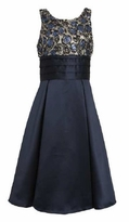 Girl's Special Occasion Dress: 7-16 Navy Bonaz to Satin Dress