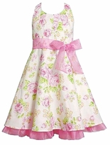 Girls Halter Dress 6X  -14 :  Pink Spring Floral Halter Bonnie Jean Dresses