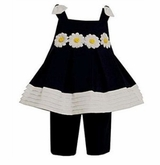 Bonnie Baby Clothes : Navy Daisy Capri Outfit - sold out