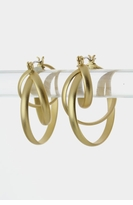 Cross Hoop Earrings - Matte Gold  SOLD OUT