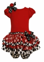 Special Occasion Red Knit to Tiers Dress