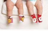 Christmas Rattle Toe Socks - OUT OF STOCK