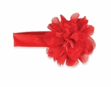Jumbo Chiffon Flower Headband - Red - sold out