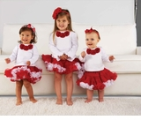Red and White Tutu Pettiskirt