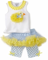 Infant or Toddler Girls Easter Outfit - Chick Pettiskirt Set  sold out