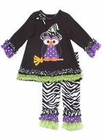 Girl's Zebra Witch Legging Set