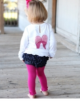 Rufflebutts Fuchsia Legging Tights