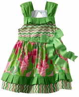 Mud Pie Little Sprout Pleated Ruffle Sun Dress