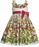 Bonnie Jean Spring Girls Dress :  Blue Garden Floral 3T LAST ONE